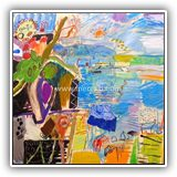 CUADROS-DE-PAISAJES-CONTEMPORANEOS.ARTISTAS.jose-manuel-merello.-florero-en-el-balcon-del-mar-(81x100-cm)-mix-media-on-canvas-