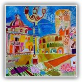 PINTURAS-DE-PAISAJES-MODERNOS.jose-manuel-merello.-valencia.-plaza-de-la-virgen.-(38-x-58-cm)-mix-media-on-canvas.